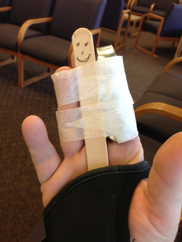 Meet Mr. Hand - It's pretty cool when your doctor has a sense of humor...