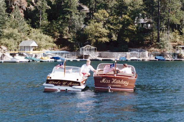 Wood'n-U-Know and Miss Hardway meet on Lake Arrowhead