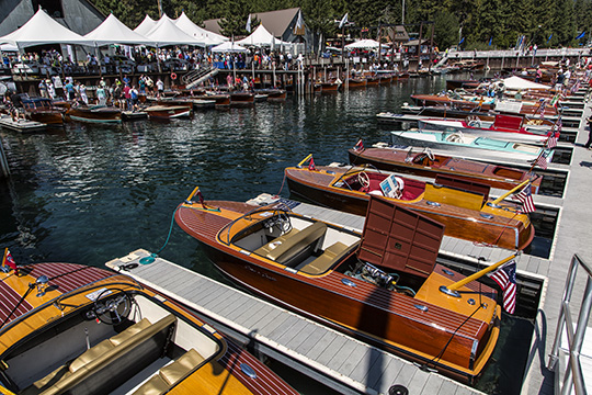 Wooden Boats Abound at the 2014 Lake Tahoe Concours d' Elegance.