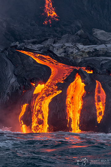The Big Island of Hawai'i is continually growing, with 250,000-650,000 cubic yards of lava every day.